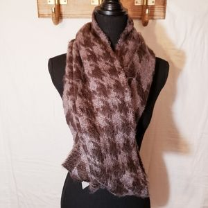 Urban Outfitters thick purple grey winter scarf
